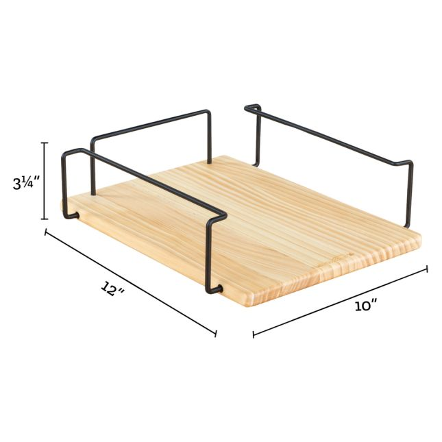 Wire & Wood Paper and Folder Tray