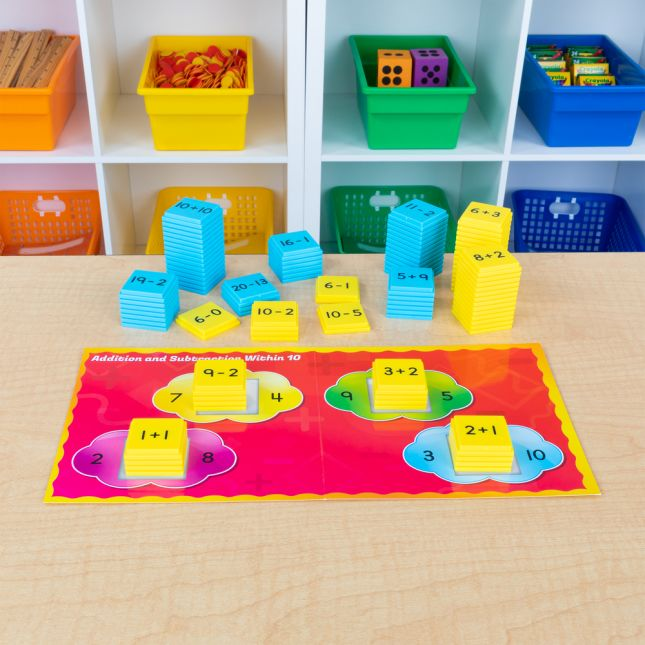 Addition And Subtraction Basic Facts Stacking Tiles