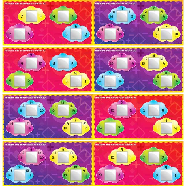 Addition And Subtraction Basic Facts Stacking Tiles Game