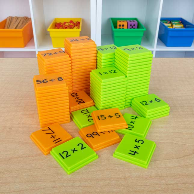 Multiplication And Division Basic Facts Stacking Tiles Game - 1 game_3