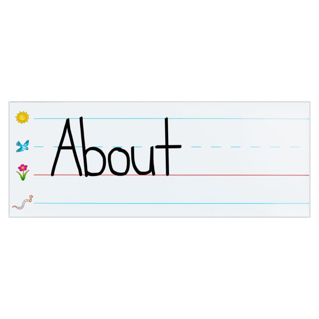 Jumbo Dry Erase Magnetic Writing Lines - 2 magnetic writing lines