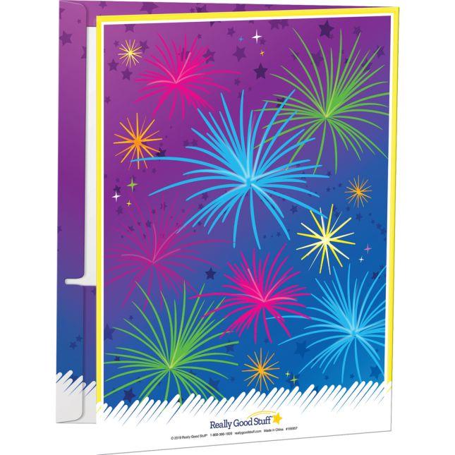 Fireworks 2-Pocket Homework Folders  Set Of 12