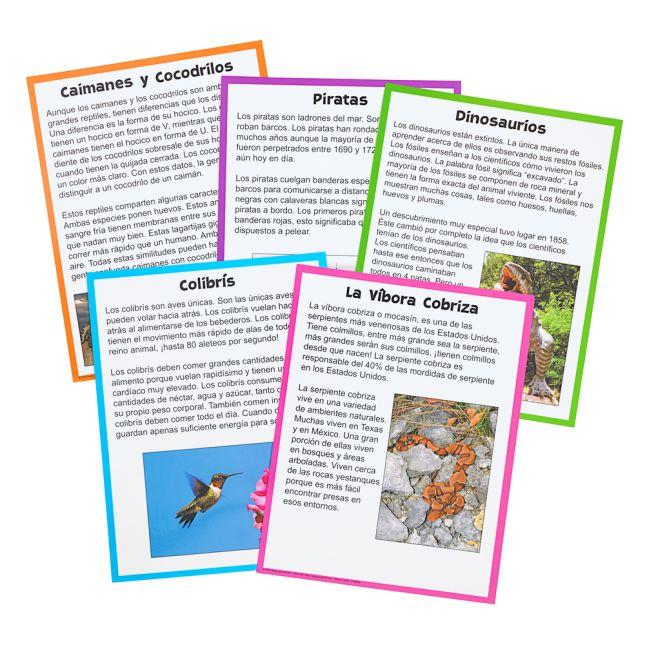 Centro de Aprendizaje: Marca la Idea Principal, Nivel 1 (Main Idea Markup Level 1 Literacy