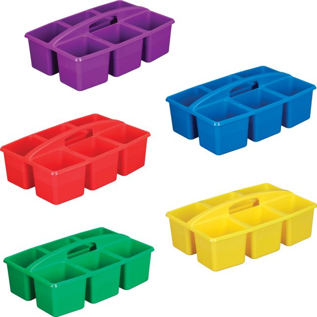 Six-Equal-Compartment Caddies - Set Of 5