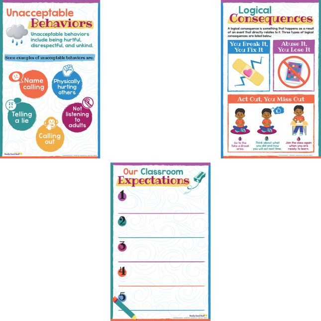 Classroom Expectations And Behaviors Poster Set_1