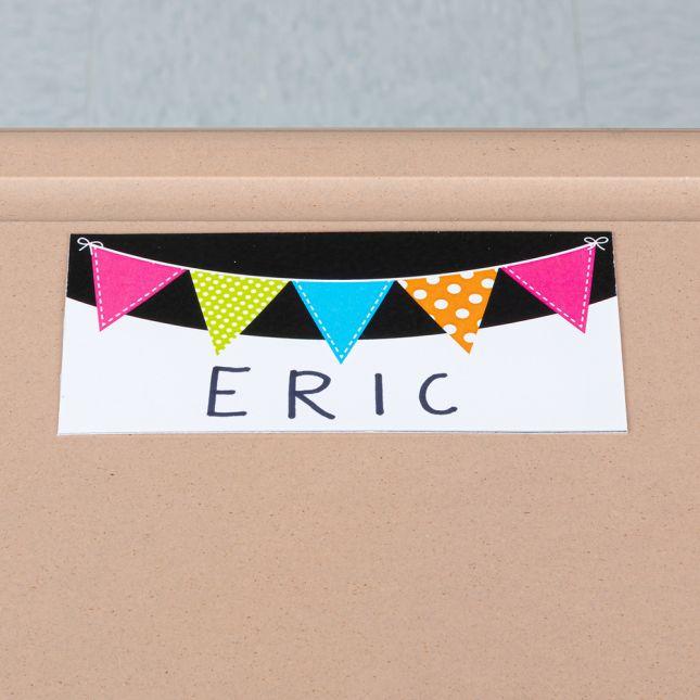 EZ Stick Nameplates Neon Pennants