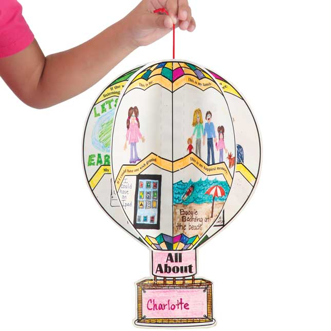 Ready To Decorate All About Me 3 D Balloons Bulletin Board Set