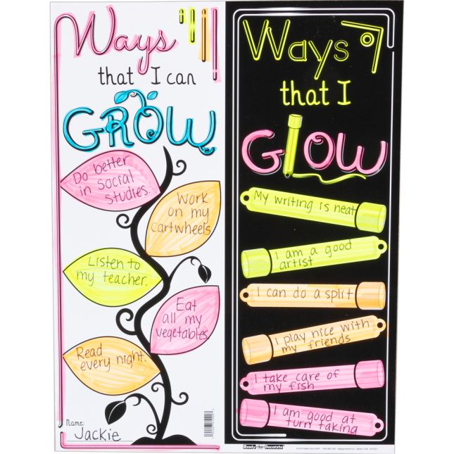 Ready To Decorate GROW And GLOW Bulletin Board Set