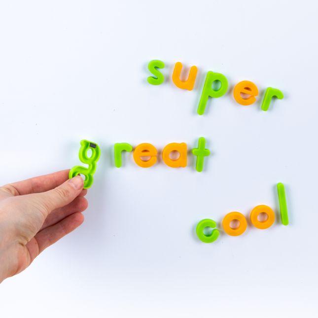 Neon Plastic Magnetic Letters Set Lowercase