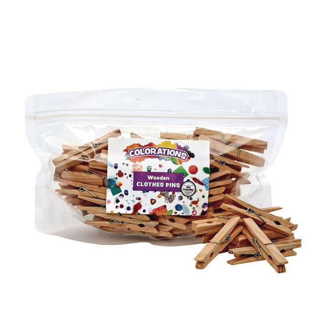 Colorations® Wood Clothespins – Set Of 48