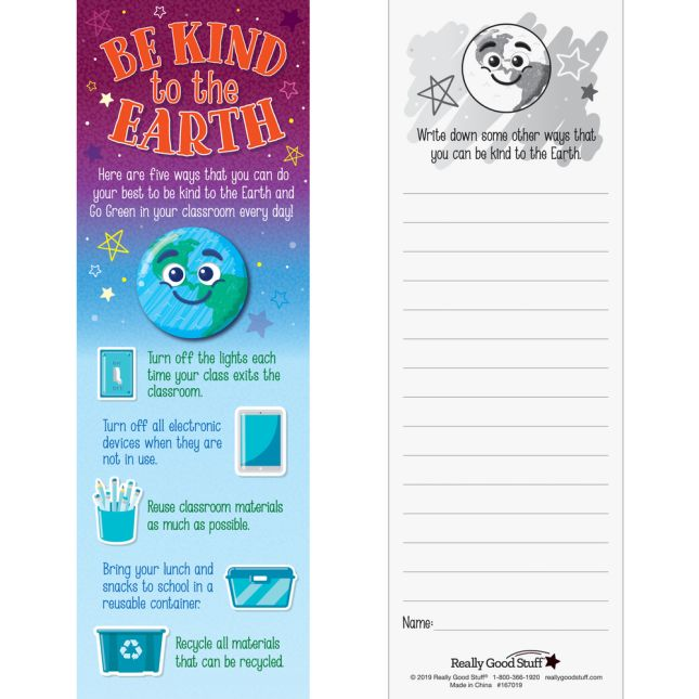 Ready-To-Decorate Be Kind to the Earth Crowns - 24 bookmarks