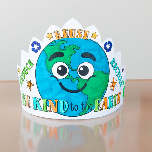Ready-To-Decorate Be Kind to the Earth Crowns - 24 crowns
