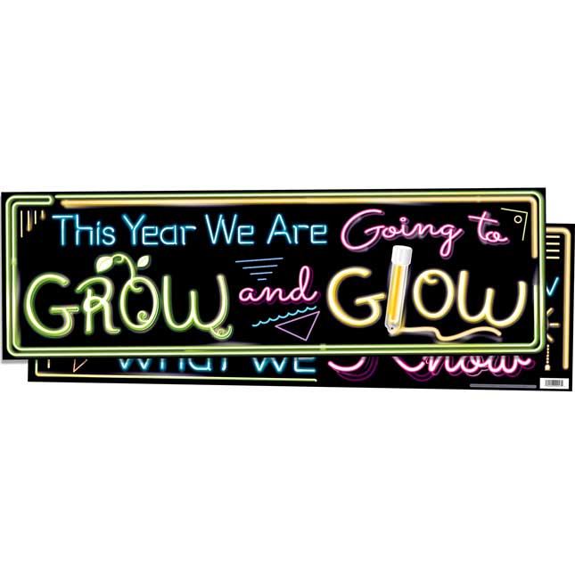 GROW And GLOW Double-Sided Banner - 1 banner