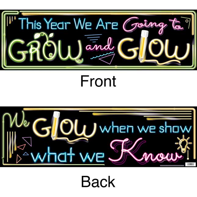 ROW And GLOW Double Sided Banner