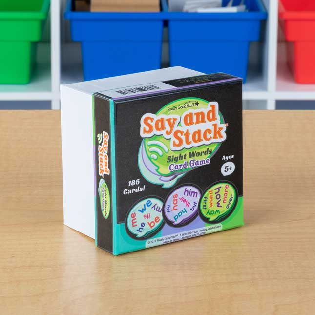 Say And Stack Sight Words - 186 cards
