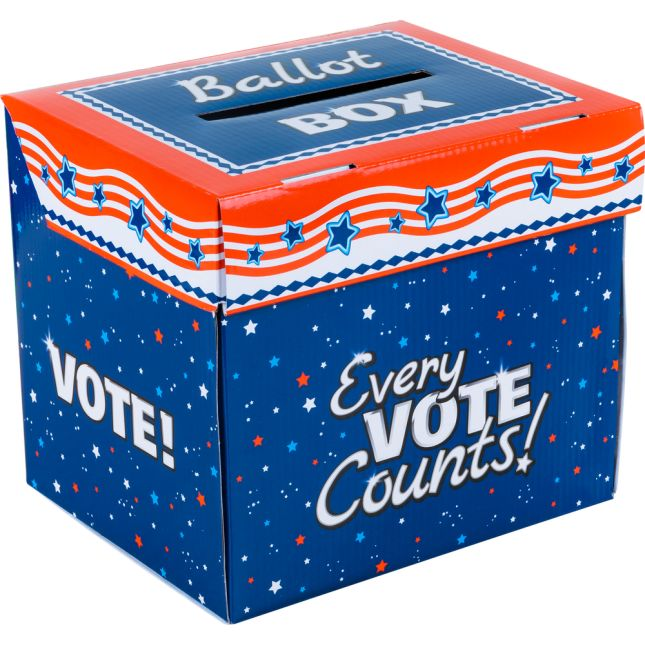 Let's Vote Ballot Box And Ballots