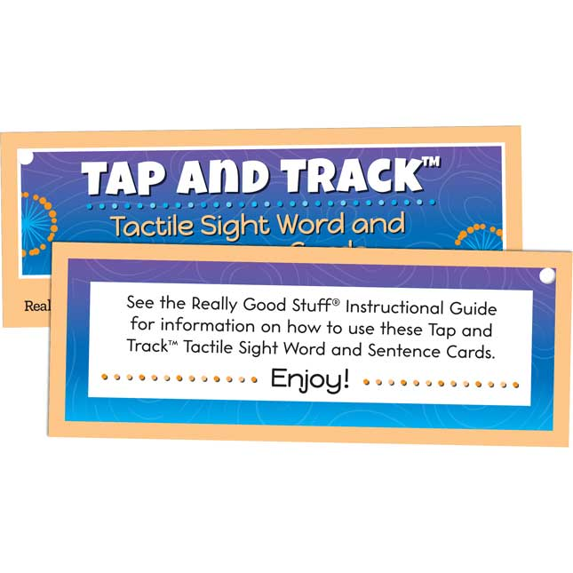 Tap And Track Tactile Sight Words And Sentence Cards - 100 cards