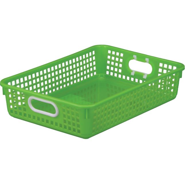 Teacher Standing Desk With Baskets - Green Neon
