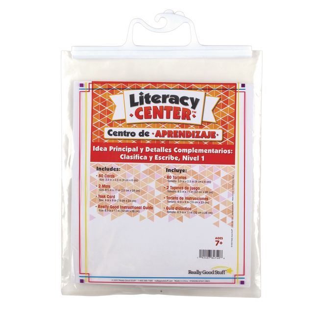 Spanish Main Idea and Supporting Details Sort and Write Level 1 Literacy Center