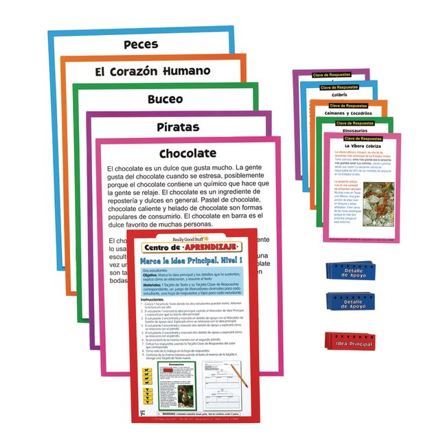 Spanish Main Idea and Supporting Details Sort and Write Level 1 Literacy Center_3