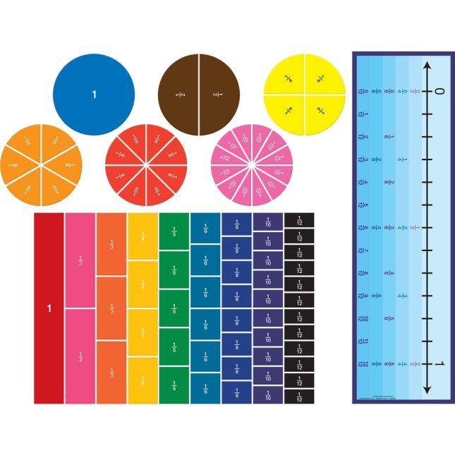 Fraction Magnets And Manipulatives Kit
