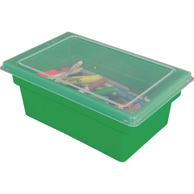 All Purpose Bins And Lids Set Of 12 Single Color   Green
