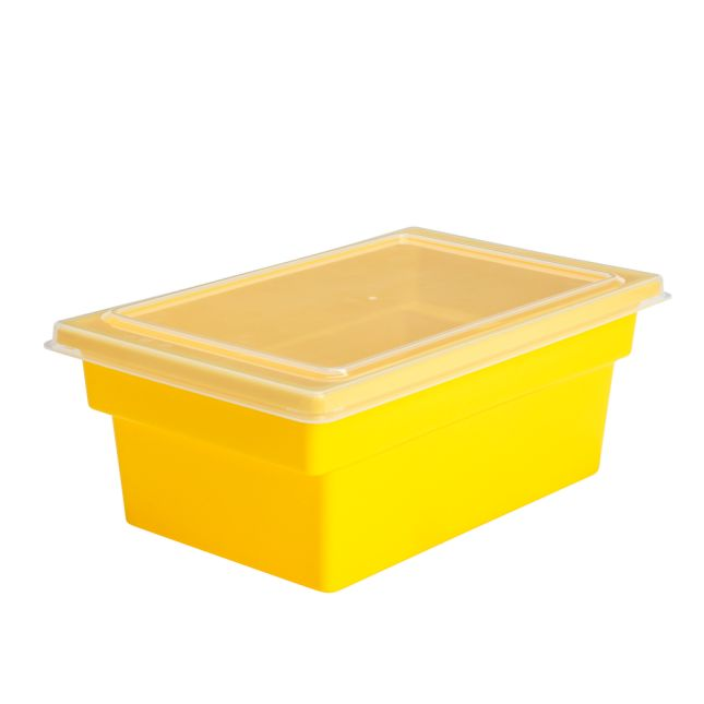All Purpose Bins And Lids Set Of 12 Single Color   Yellow