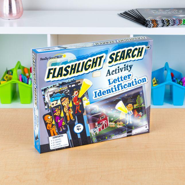 Flashlight Search Activity Letter Identification
