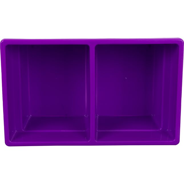 Two-Compartment All-Purpose Bins  Set Of 12  Single Color - Purple