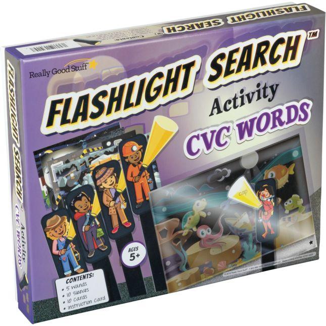 Flashlight Search Activity  CVC Words - 1 game