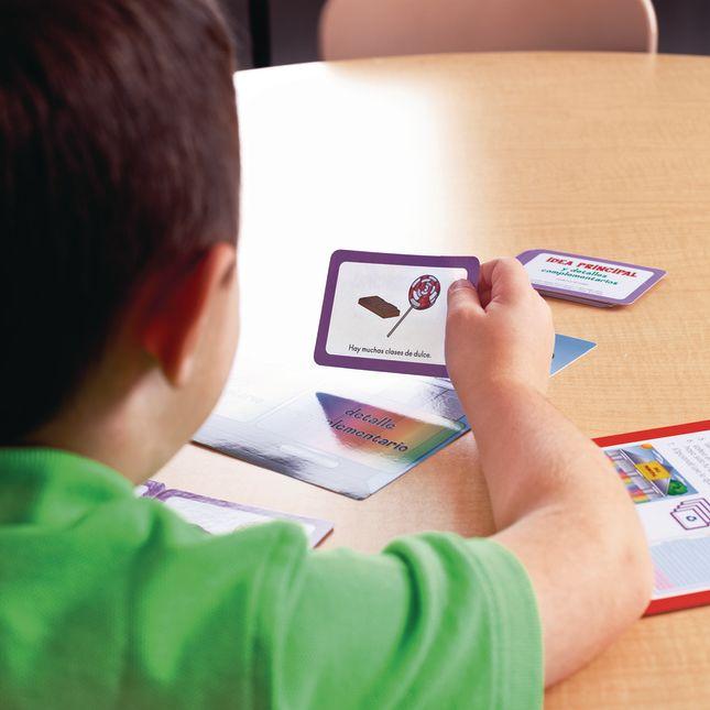 Centro de Aprendizaje: Idea Principal y Detalles Complementarios: Clasifica y Escribe, Nivel 2 (Spanish Main Idea and Supporting Details Sort and Write Level 2 Literacy Center)