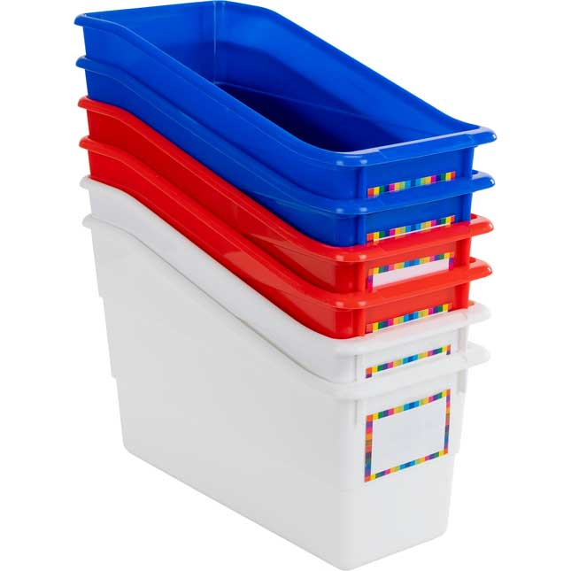 Durable Book And Binder Holders – Patriotic – Set Of 6