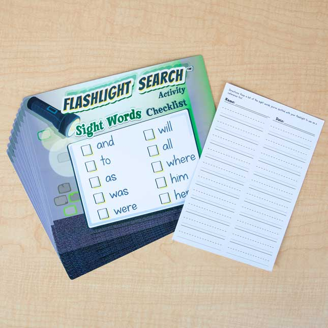 Flashlight Search Activity Sight Words