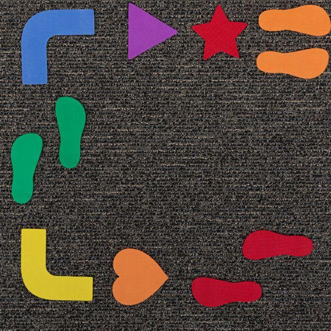 Carpet Mark-Its  Sensory Path - 72 pieces