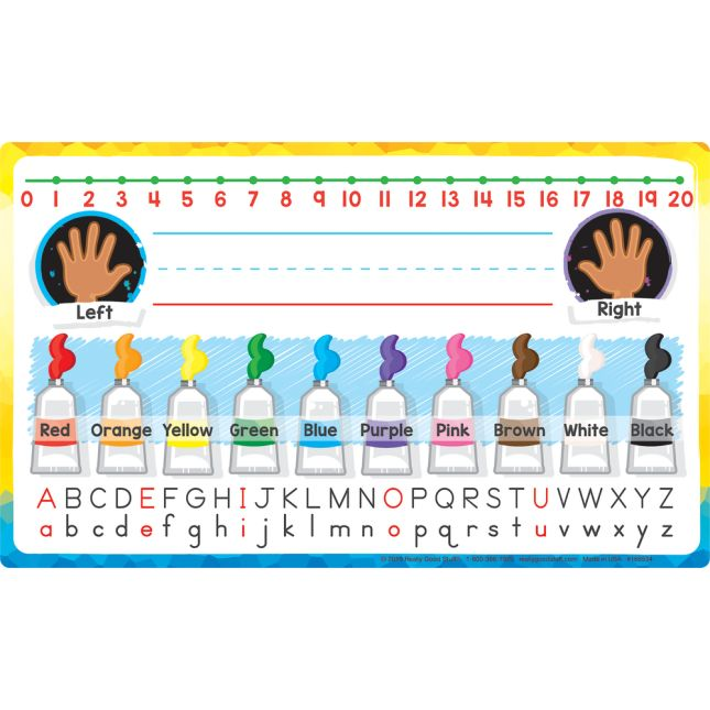 On-The-Go Caddies With Primary Self-Adhesive Vinyl On- The-Go Helpers - 6 caddies, 6 Helpers