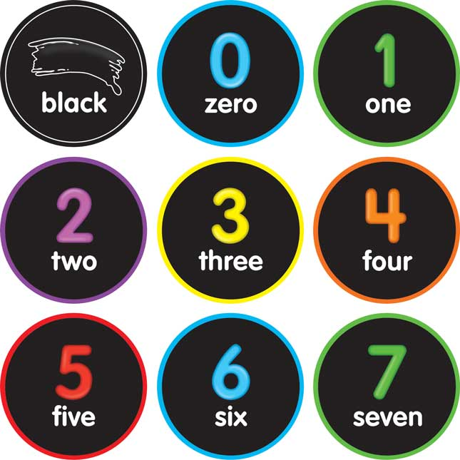 EZ Stick Numbers, Shapes, And Colors Decals - 45 decals