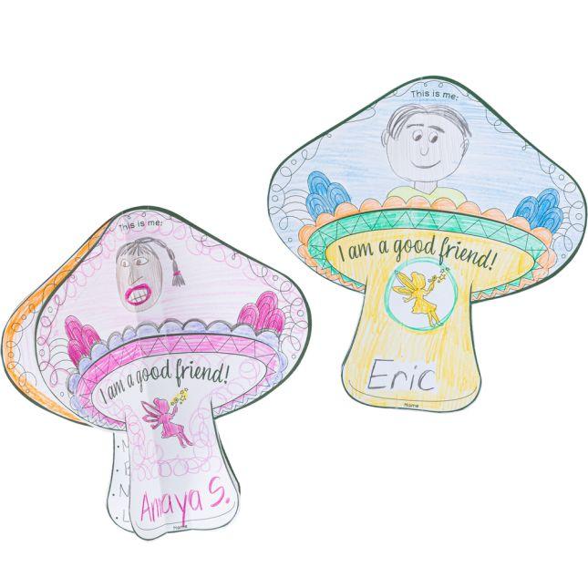 Ready-to-Decorate Friendship Fairy 3-D Mushroom - 24 3D mushrooms