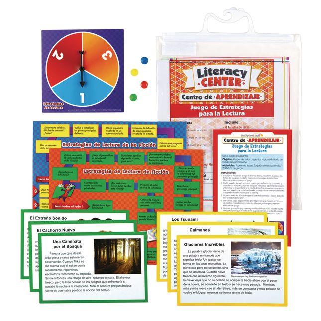 Centro de Aprendizaje: Juego de Estrategias para la Lectura Nivel 1 (Spanish Reading Strategies Game Literacy Center, Level 1)