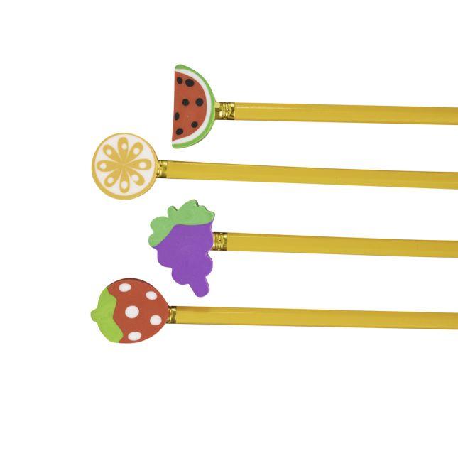Fruit Pencil Topper Erasers - 36 erasers