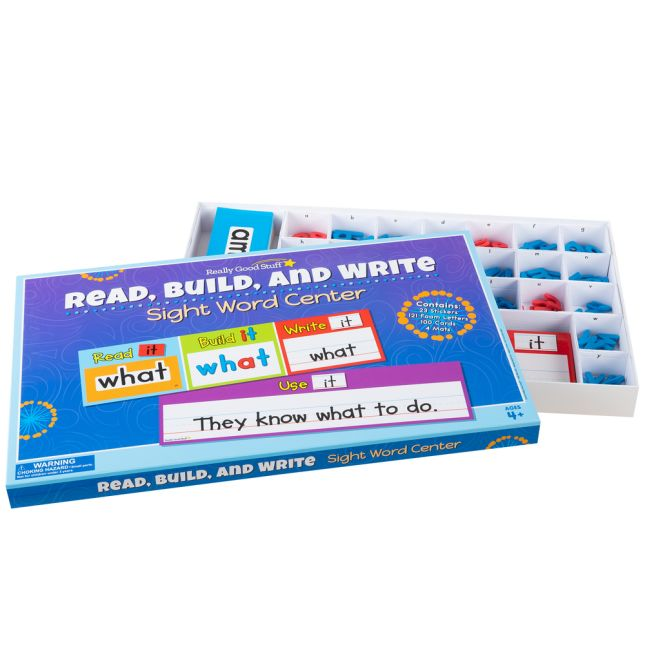 Read Build And Write Sight Word Center