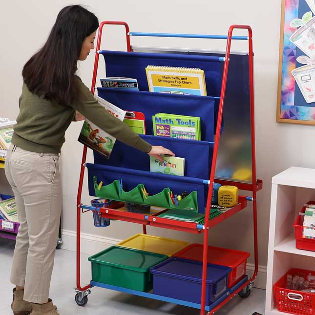 Premium Classroom Easel - 1 easel, 4 tubs, 4 cups, 2 trays