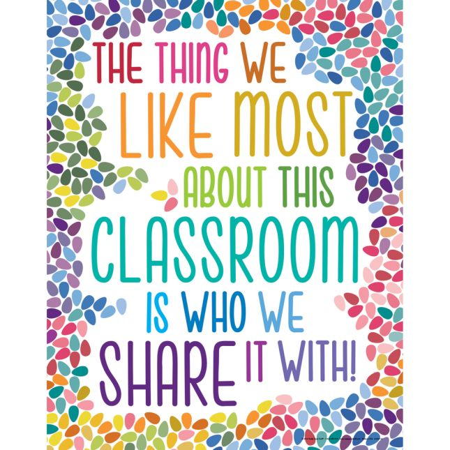 The Thing We Like Most About This Classroom Poster  Colorful Drops - 1 poster