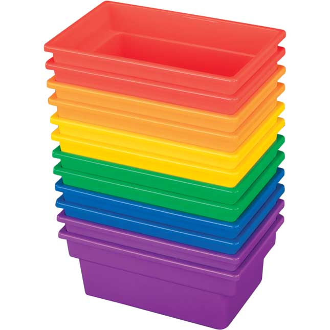 Small All-Purpose Bins - Set Of 12 - 6 Colors