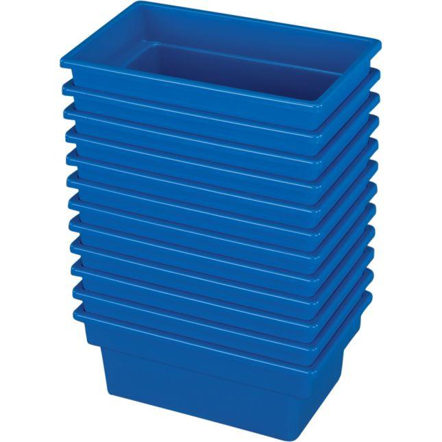 Small All Purpose Bins Set Of 12 Single Color   Blue
