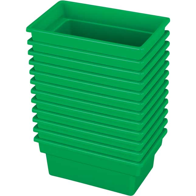 Small All Purpose Bins Set Of 12 Single Color   Green