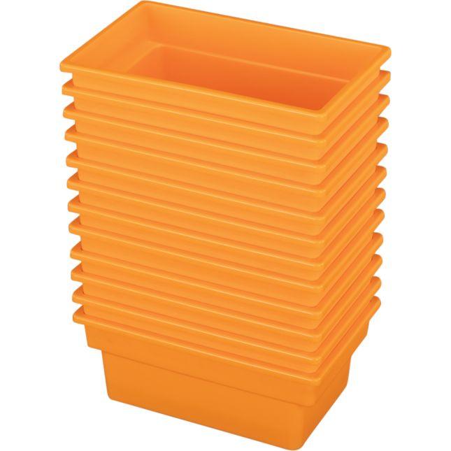 Small All Purpose Bins Set Of 12 Single Color   Orange
