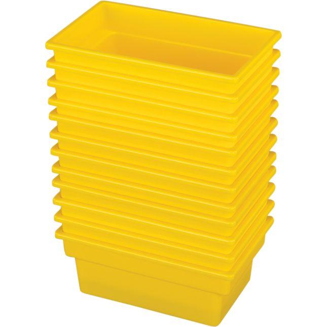 Small All Purpose Bins Set Of 12 Single Color   Yellow