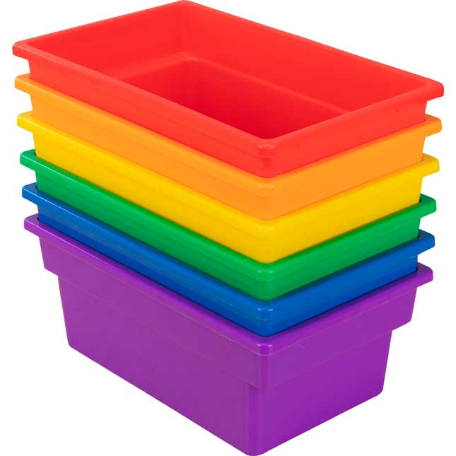 Small All Purpose Bins Set Of 6 Grouping Colors_1