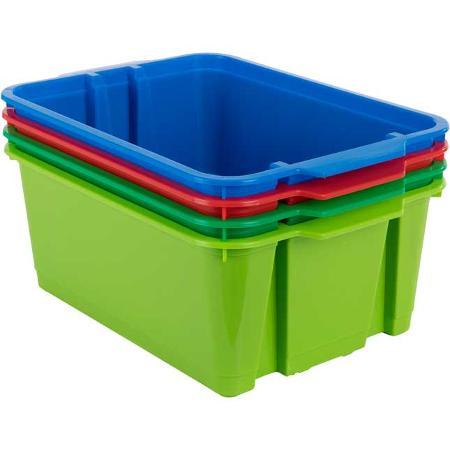 Classroom Stacking Bins – Rain Forest – Set Of 4