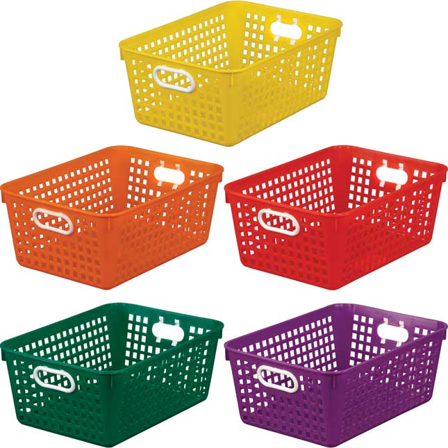 Large Baskets – 5 Group Colors – Set Of 5